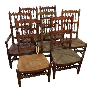 Charles Pollock English Spindle Back Chairs - Set of 7