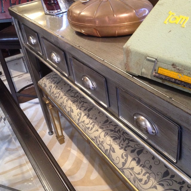 Metal Industrial Metal Console Table For Sale - Image 7 of 9
