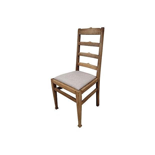 Antique Oak Ladder-Back Chair - Image 1 of 3
