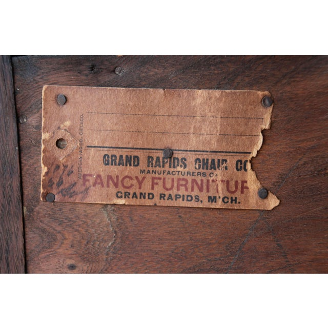 Antique Mission Oak Sideboard by Grand Rapids Chair Co., Circa 1910 For Sale - Image 11 of 12