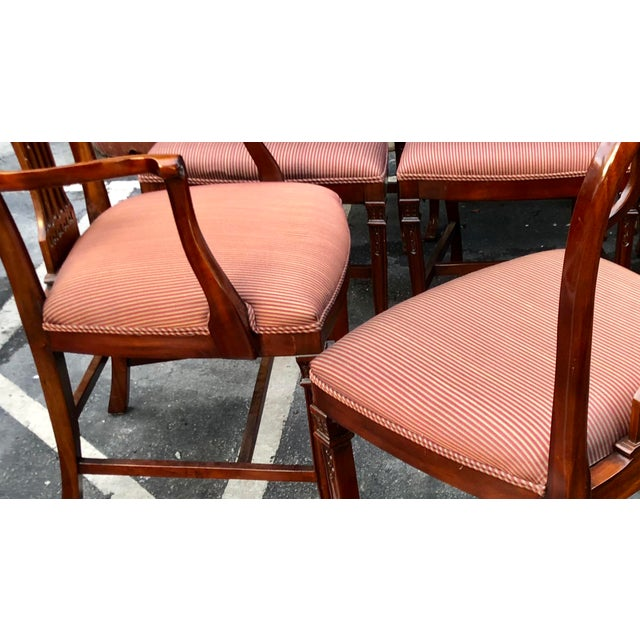 Set of 12 Maitland-Smith Georgian Mahogany Dining Chairs For Sale - Image 10 of 11