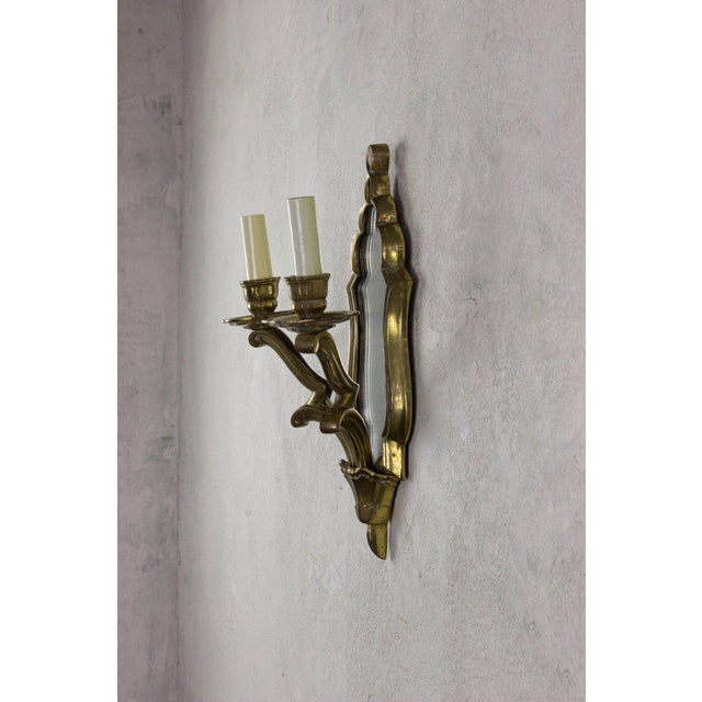 Pair of French Gilt Bronze Sconces For Sale - Image 4 of 10