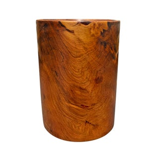 20th Century Modern Burl Pencil Cup For Sale