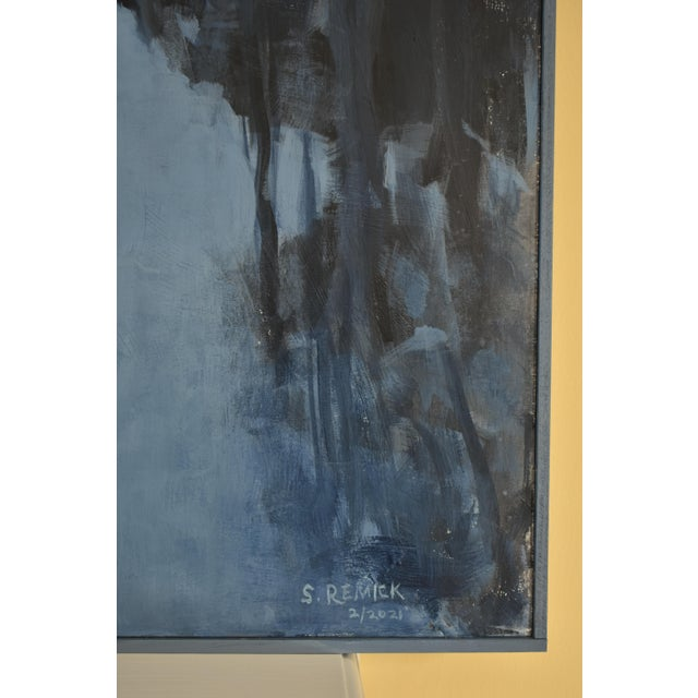 "2020s ""Choices Into the Night"" Contemporary Abstract Landscape Acrylic Painting by Stephen Remick For Sale - Image 5 of 11"