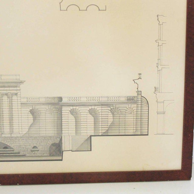 Acrylic Original Architecture Sketches Drawing Study for Place Des Vosges in Paris For Sale - Image 7 of 10