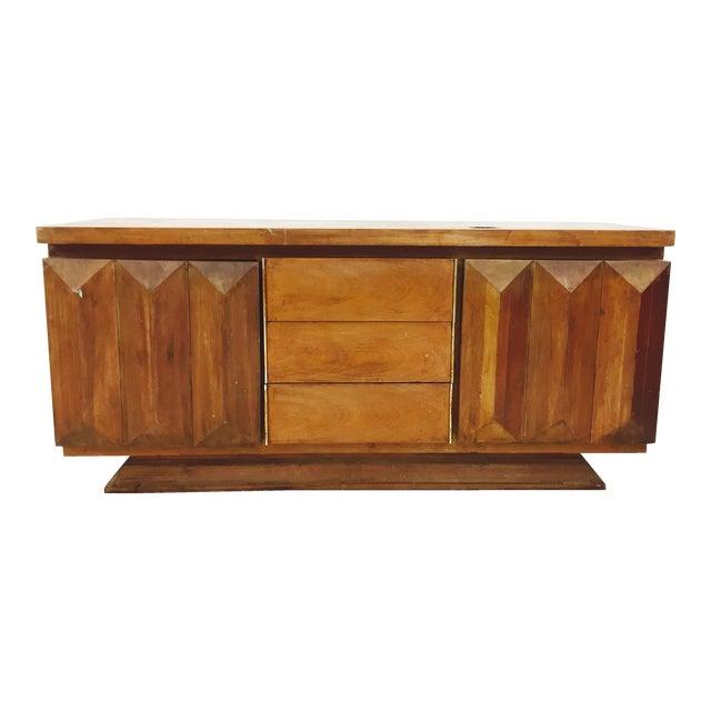 Mid-Century Modern Brutalist Kagan Style Dresser For Sale