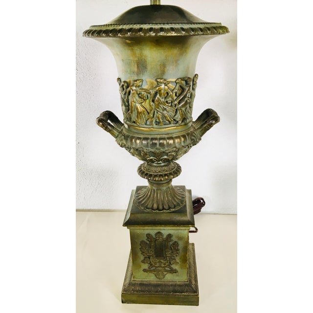 Mid-Century Classical Urn Lamps – a Pair For Sale - Image 10 of 12
