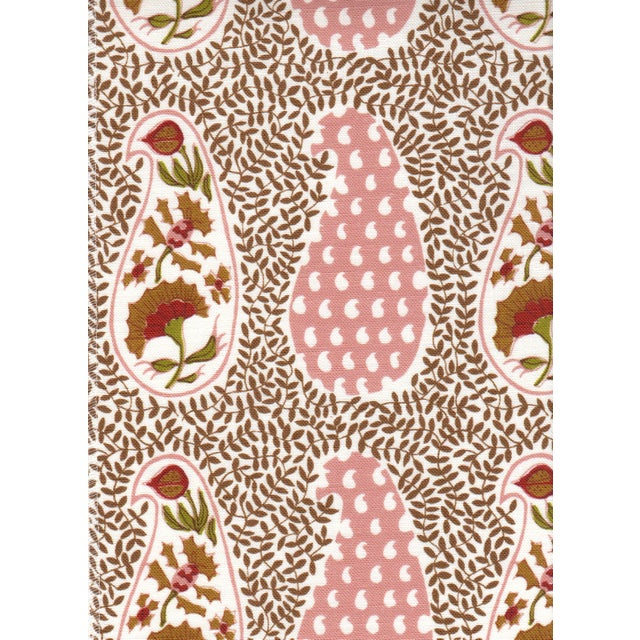 Transitional Virginia Kraft Jangal Supreem Fabric, 3 Yards in Warm For Sale - Image 3 of 3