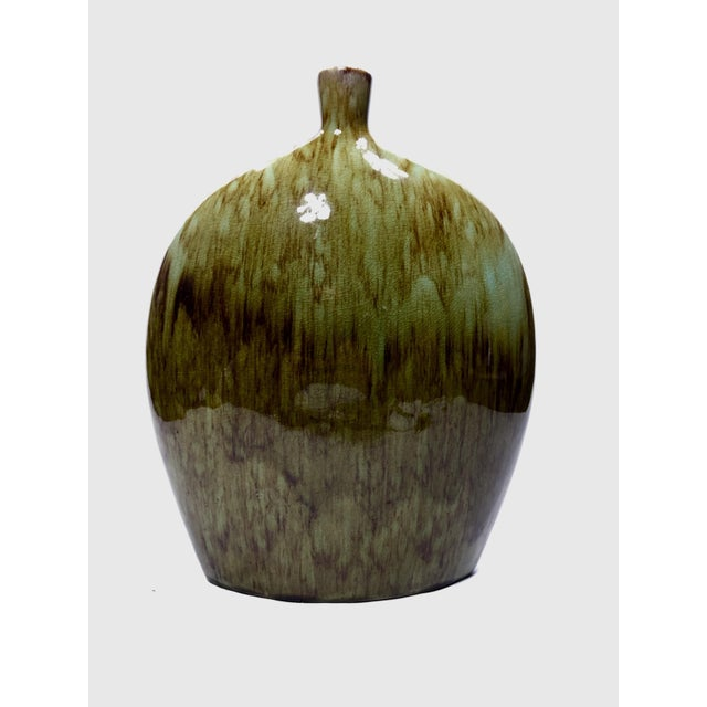 Green Apropos Home Collection Green and Brown Vase For Sale - Image 8 of 8