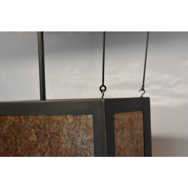 Japanese Large Torii Pendant Light For Sale - Image 3 of 6