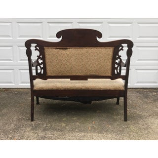 Final Price Antique Eastlake Victorian Style Carved Settee Preview