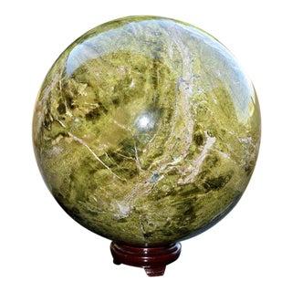 Green Vesuvianite Rock and Minerals Stone Sphere Ball For Sale