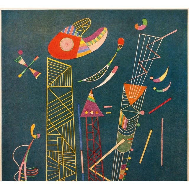 Abstract 1947 Wassily Kandinsky, Construction Legere Parisian Plate For Sale - Image 3 of 10