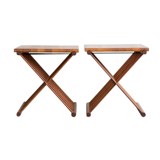 Folding End Tables - Set of 2 - Image 1 of 10