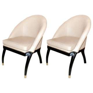 Pair of Side Chairs by Shelby Williams For Sale