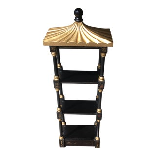Maitland-Smith Black Lacquer & Gilt Hanging Wall Pagoda For Sale