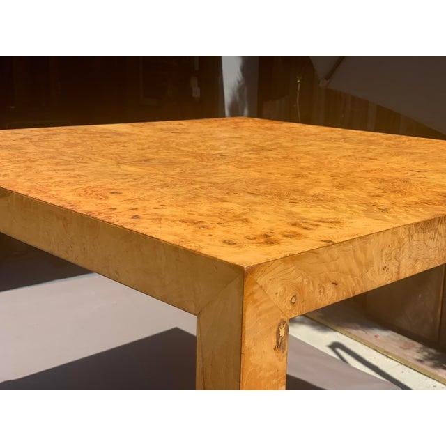 Brown Vintage Mid Century Modern Werner Kanner Burl Wood Table For Sale - Image 8 of 10