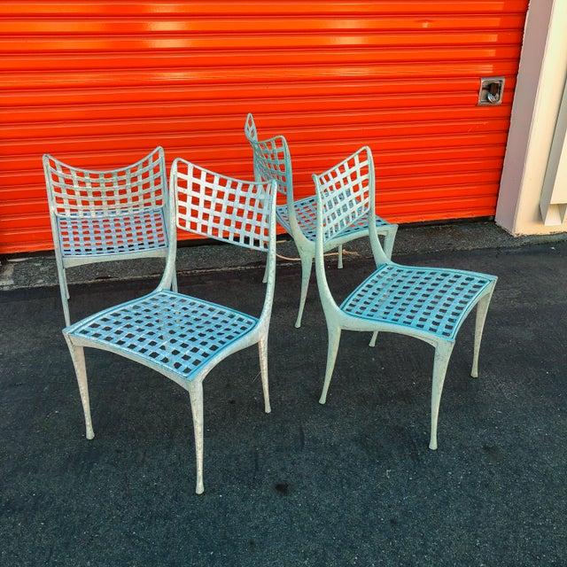 Dan Johnson Brown Jordan Sol Y Luna Patio Chairs - Set of 4 For Sale - Image 12 of 12