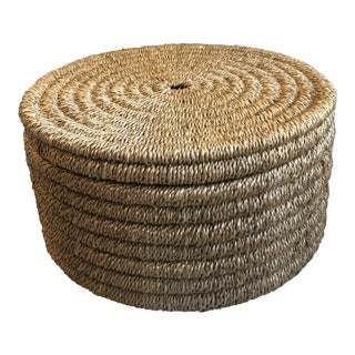 Boho Chic Made Goods Yvon Circular Natural Woven Rope Box - Large