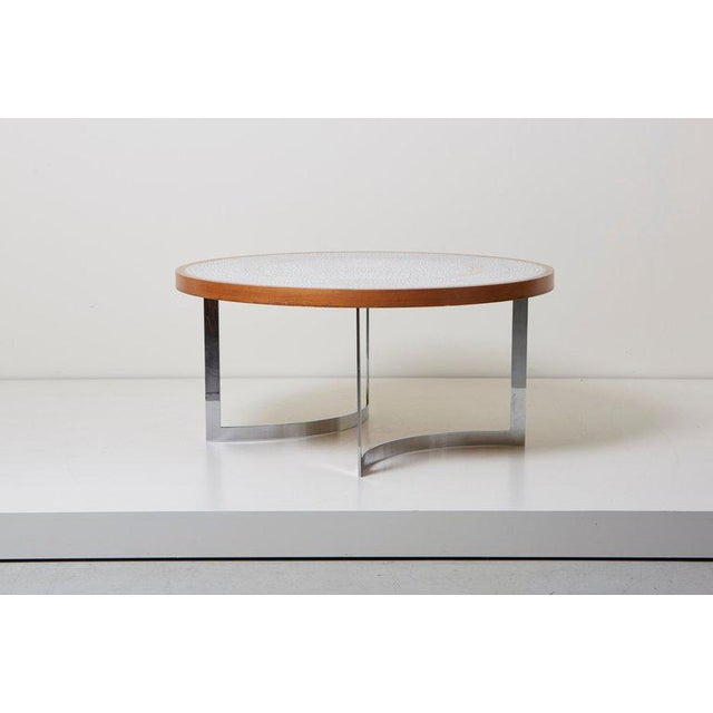 Mid-Century Modern Huge Mosaic Coffee Table by Berthold Müller, Germany, 1967 For Sale - Image 3 of 13