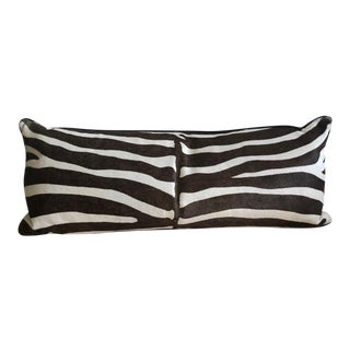 Hair-On Hide Printed Zebra Lumbar Pillow