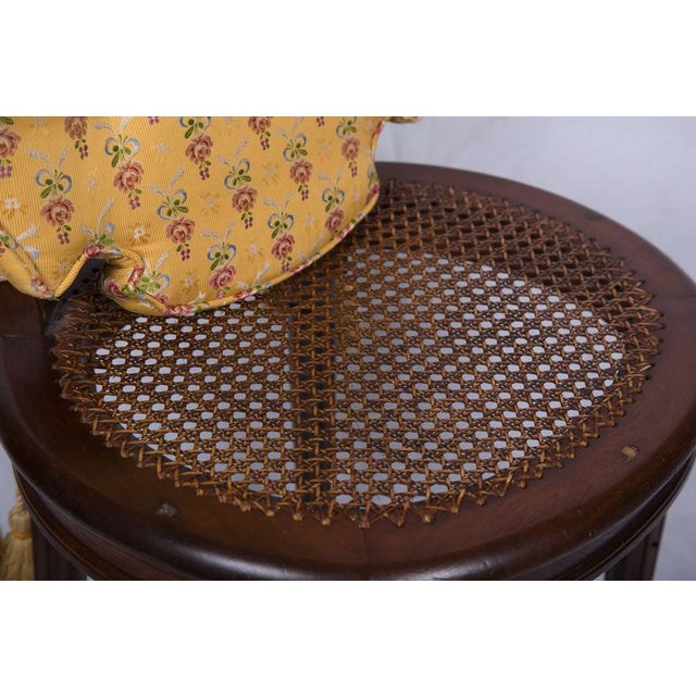 19th Century Walnut Caned Musician's Chairs For Sale - Image 4 of 7