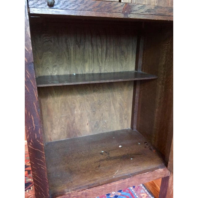 Brown 1925 Mission Oak Prohibition Era Liquor Cabinet For Sale - Image 8 of 10