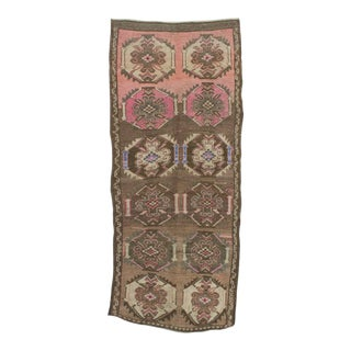 1960s Vintage Turkish Wool Rug - 4′2″ × 9′10″ For Sale