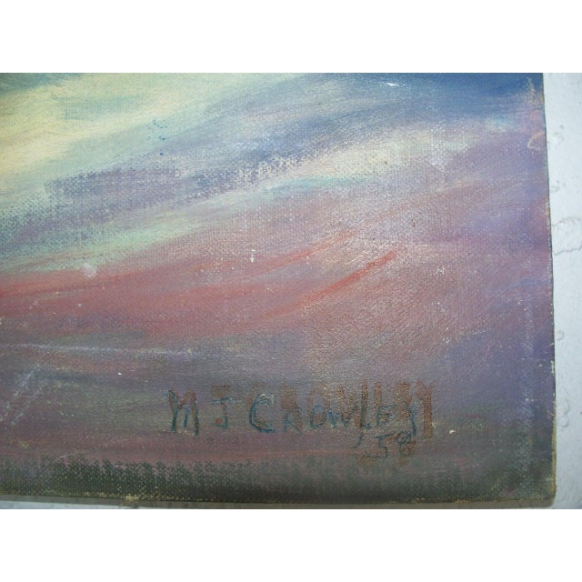 Contemporary Dark Figure by a Church in Havana Signed Oil Painting - Image 4 of 6