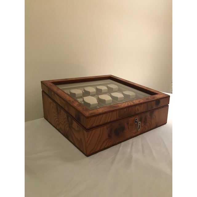 Agresti Briar Wood Watch Case For Sale - Image 5 of 9