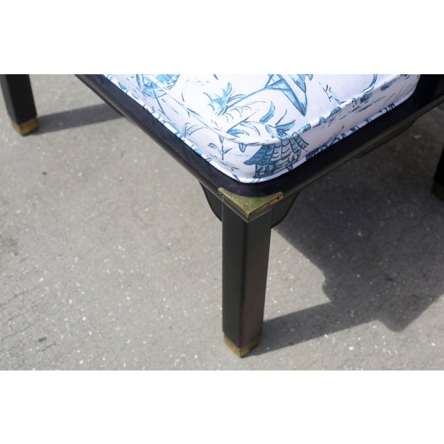 Vintage James Mont Black Lacquer Ming Chair For Sale In Tampa - Image 6 of 13
