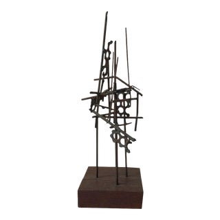 1950s Welded Iron Abstract Sculpture For Sale
