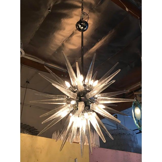 Italian Shards Sputnik Chandelier For Sale - Image 3 of 6