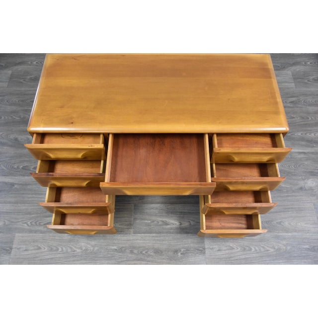Franklin Shockey Solid Maple Desk | Chairish