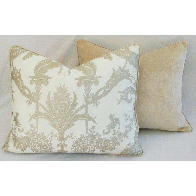 Designer Italian Fortuny Lamballe Pillows - Pair - Image 11 of 11