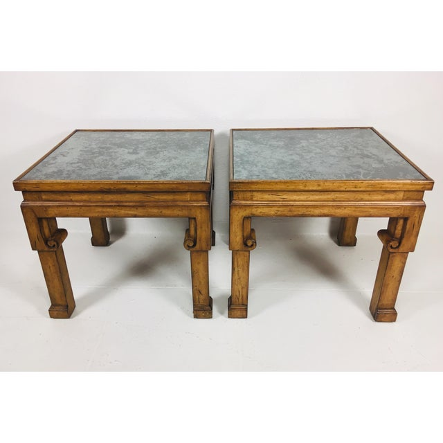 Brown Asian Inspired Side Tables – a Pair For Sale - Image 8 of 9