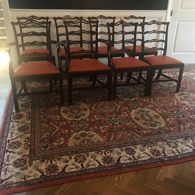 Black Chippendale Ribbon Back Dining Chairs - Set of 8 For Sale - Image 8 of 8