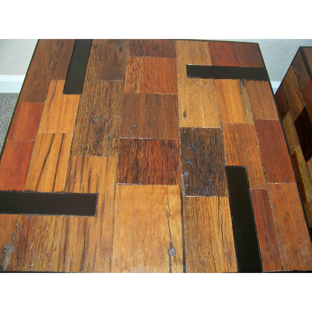 Reclaimed Wood End Tables - A Pair - Image 4 of 6