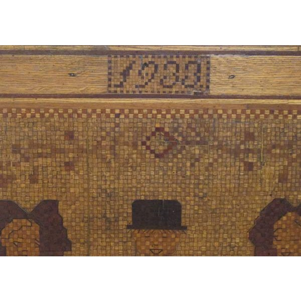 An Alsatian Folk Art Wooden Panel Now Mounted as a Table - Image 7 of 7