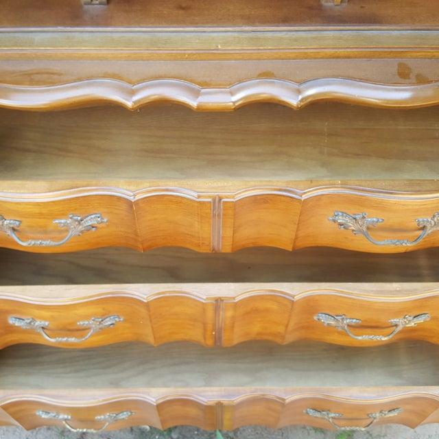 Vintage White Fine Furniture Highboy Dresser - Image 4 of 4
