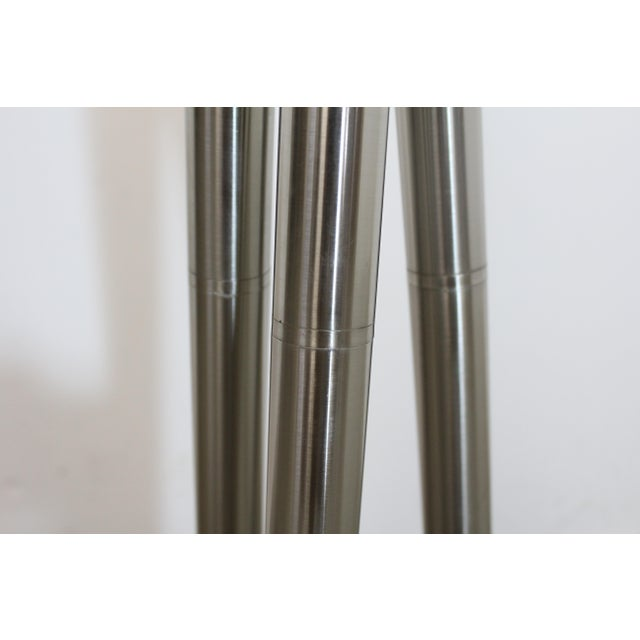 Mid-Century Modern Style Chrome Stick Floor Lamp For Sale - Image 4 of 5