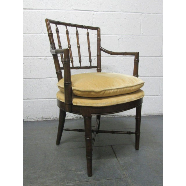 Chippendale Four Faux Bamboo Armchairs For Sale - Image 3 of 8