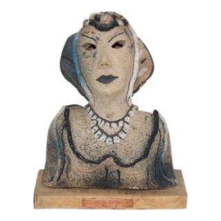 Dama a La Noche 1985 Ceramic by Gadu For Sale