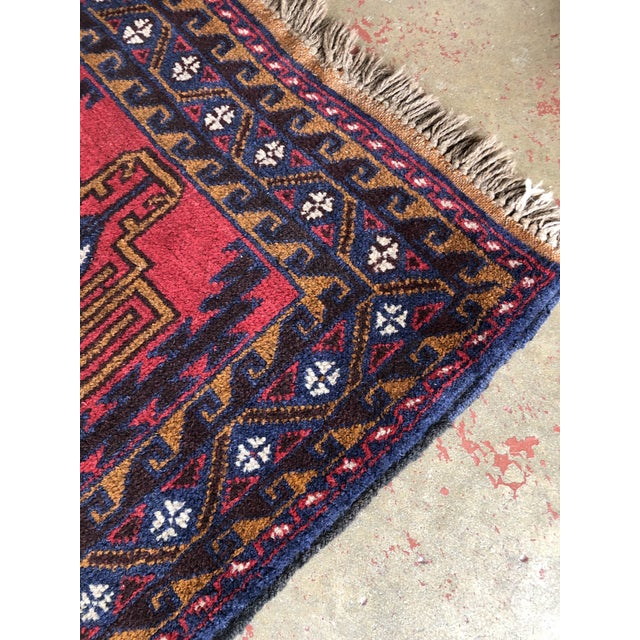 Antique Handmade Tribal Rug For Sale In Raleigh - Image 6 of 9