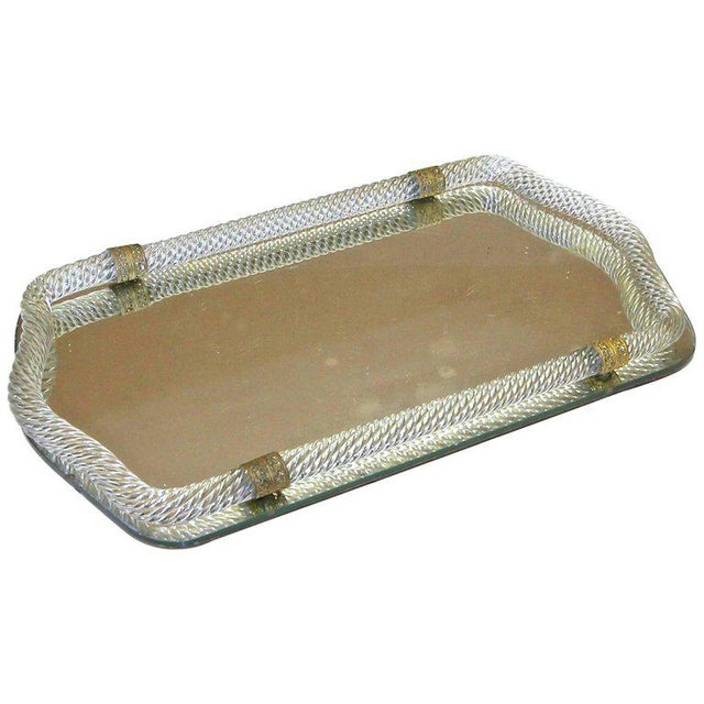 Italian Murano Twisted Glass Rope Vanity Tray For Sale - Image 11 of 11