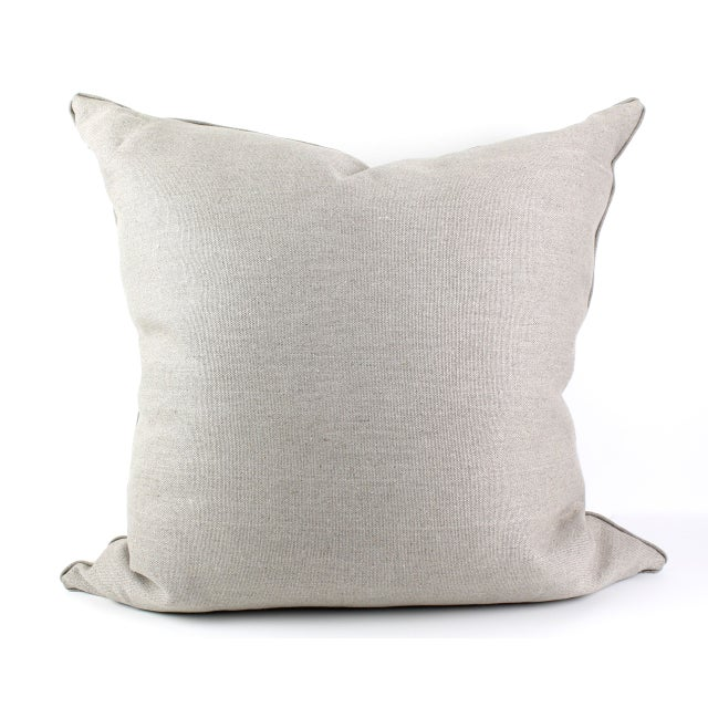 Antique French Hand Block Pillow For Sale - Image 5 of 5