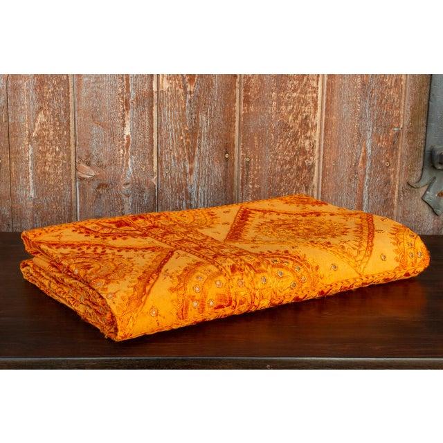 Tangerine Tangerine Sheesha Coverlet For Sale - Image 8 of 8