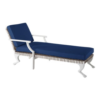 Delta Tau Chaise Lounge in Pacific Blue For Sale