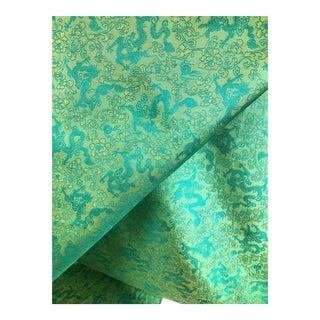 Silk Jacquard Textile Fabric Dragon Design For Sale