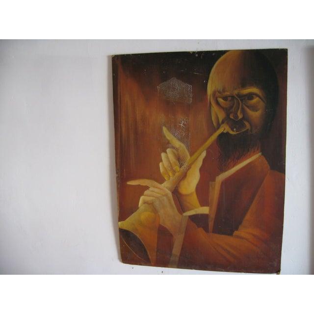 Trumpet Man Painting - Image 4 of 4